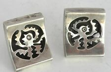 silver southwest Octopus cufflinks Mexico Vintage Taxco Mexican large sterling