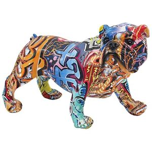 Leonardo Graffiti Bulldog Ornament Statue