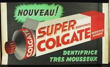 Super colgate dentifirce très mousseux affiche originale de publicité ancienne