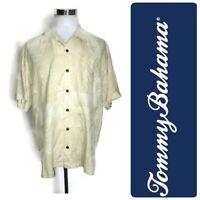 Tommy Bahama Men's Hawaiian Shirt 100% Silk XL Floral Green Vacation Casual Top