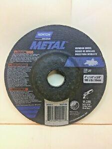 """(6) NORTON 42011 METAL GRINDING WHEEL 4"""" X 1/4"""" X 5/8"""" Depressed Center"""