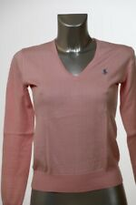 Ralph Lauren Damen V-Neck Pullover -rosa Gr.S (DE 36)