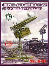 UM-MT Models 1/72 Soviet COUPLED MAXIN MACHINE GUNS ANTI-AIRCRAFT GUN