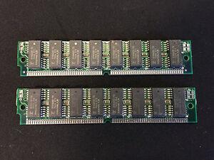 2x 4MB 72-Pin 70ns FPM Non-Parity Fast Page 1Mx32 RAM SIMM Memory Apple PC UNIX
