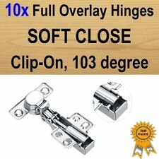 10xDoor Kitchen Cabinet Cupboard Soft Close Full Overlay Hinges