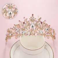 Fashion Baroque Flower Crystal Crown Tiaras Bridal Wedding Hair Jewelry Headband