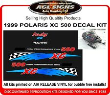 1999 POLARIS INDY XC 500 REPRODUCTION DECAL KIT , shroud  graphic