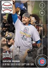 Topps NOW 658A: David Ross HR in Final Career AB Aids Cubs Game 7 Win