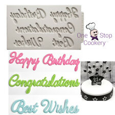 Katy Sue Word Perfect BIRTHDAY Set Silicone Sugarcraft Cake Mould Art & Craft