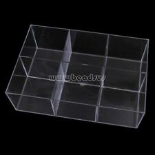 6 Cells Clear Acrylic Jewelry Beads Container Box Storage Holder Case Organizer