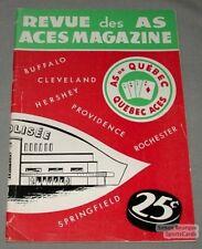 60-61 Quebec Aces vs Montreal Canadiens Hockey Program