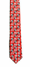 Boy's New Neck Tie Red with shield and numbers design by GAP