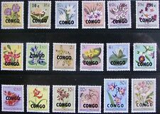 CONGO, DEMOCRATIC REP. #323-340: VF MNH Comp. Set of 18 - Overprints