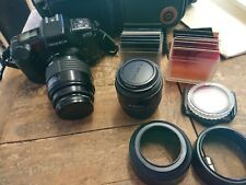 Yashica 270 Camera With 2 Lenses Filters Case And Manual