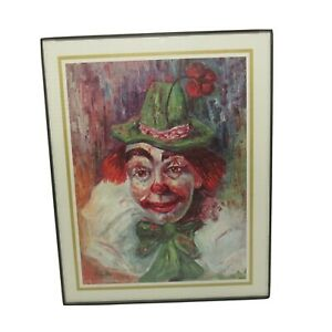 """Clown Print by Michele, MCS Industries Frame, Wall Hanging, Easel Back, 8"""" x 10"""""""