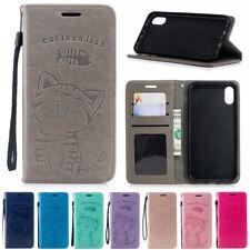 Para iPhone 11 Pro se XR Xs Max 6 7 de 8 Plus De Cuero Magnético Abatible Billetera Estuche De Piel