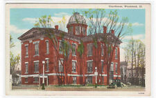 Court House Woodstock Illinois 1944 postcard