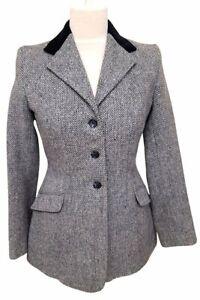 Equestrian Tweed Blue Jacket - Size UK12