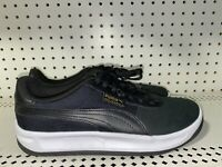 Puma California Mens Leather Athletic Shoes Sneakers Size 10 Black White