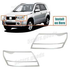 Accessories Chrome Headlight Covers Trims For Suzuki Grand Vitara 2006-2013