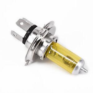 Lampe Frontale Phare Xénon H4-Lumière Ampoule Étanche Jaune Voiture Auto 55W