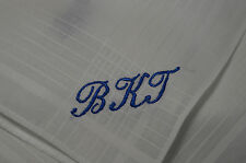 Bespoke Present - Set of 3 Ladies Monogrammed Hankies (I) with up to 3 letters