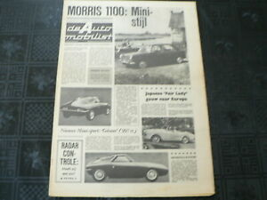 DE AUTO MOBILIST 1962 NO 33 MORRIS 1100,GITANE,RADAR CONTROLE,GRONINGEN KAAPSTAD