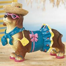 LIFESIZE Dachsie Out For A Stroll FIGURINE DOG Statue deluxe! NEW Dachshund