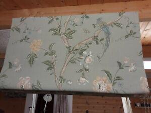 Roman Blind Laura Ashley Summer Palace Eau de nil Fabric  Made to measure