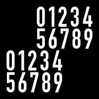 Hausnummern in Chrom schöne Zahlen in historischer Schrift Haus Nummer