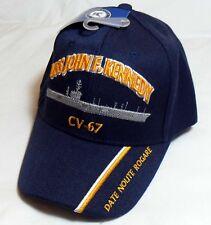 USS JOHN F KENNEDY CV-67 US NAVY SHIP HAT OFFICIALLY LICENSED BASEBALL CAP