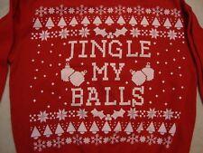 Spencer's Apparel Christmas Sex Joke Red Crew Neck Sweatshirt Size L