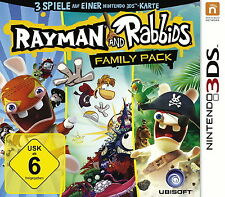 Rayman and Rabbids Family Pack (Nintendo 3DS, 2014, Keep Case) mit Ovp