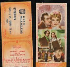 Programa publicitario de CINE doble. EL ESCANDALO de Jose Luis Saenz Heredia.