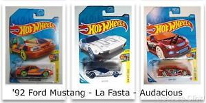 Hot Wheels - 92 Ford Mustang - La Fasta - Audacious - (3) Art Cars 1 Lot