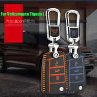 Smart Key Keyless Remote Entry Fob Case Cover Key Chain For Volkswagen Tiguan L