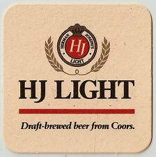 18 HJ Light Draft-Brewed Beer From Coors  Beer Coasters