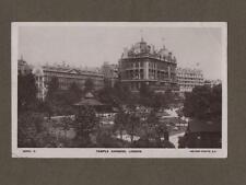 TEMPLE GARDENS old London RP Photograph Postcard   1911   L.101