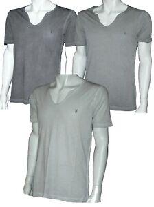 Mens Allsaints Scope Neck Spitalfields T-Shirt in Sizes; XS - 2XL
