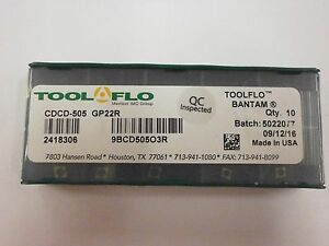 10pc ToolFlo FLG 3078R GP50 Top Notch Coated Carbide Grooving Inserts NG 3078R GP50C Tool Flo