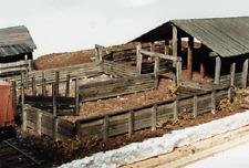 JV MODELS # 2028 Alden Farms Stockyard Wood Kit 80 x 120' 24.4 x 36.6m HO MIB