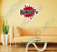 "Kung Fu Chinese Martial Arts Fighting Wall Sticker Room Interior Decor 25""X20"""