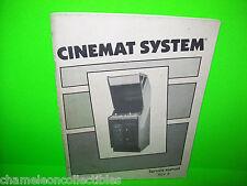 CINEMATRONICS CINEMAT SYSTEM VIDEO ARCADE GAME SERVICE MANUAL + SCHEMATICS 1985