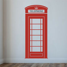 LONDON PHONE BOX Wall Decal Stickers Home room Decor Art Removable (M)