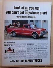 1967 magazine ad for Chevrolet - 1968 CST Fleetside Pickup Truck, Job-Tamer