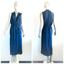 SHEIKE Women Sleeveless Dark Blue Two Front Pockets Dress Size 10