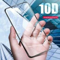 For iPhone X XS Max XR 10D Full Curved Real Tempered Glass Film Screen Protector