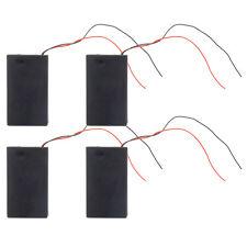 New 4pcs Black 3 AAA/3A (3*1.5V) 4.5V Battery Holder Box Case On/Off Switch DIY