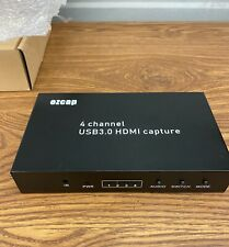 4 Channel HDMI Video Capture Device USB3.0 1080P 60 Video Record and Live Stream