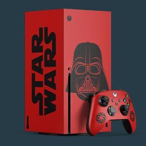 Xbox Series X Vinyl Skin & 2x Controller Skins, Star Wars Darth Vader Themed.